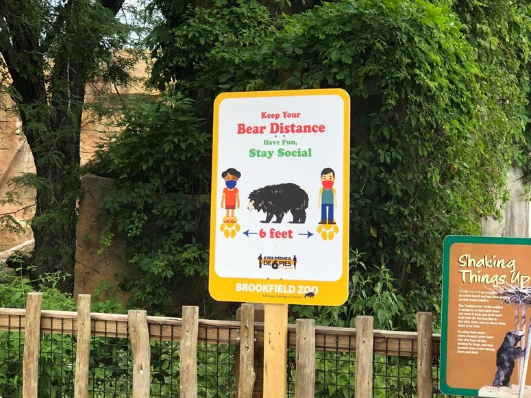 Brookfield Zoo Social Distancing Signage