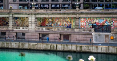 """""""The Radiance of Being"""" mural on Chicago Riverwalk"""