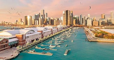 Rendering of Navy Pier Marina