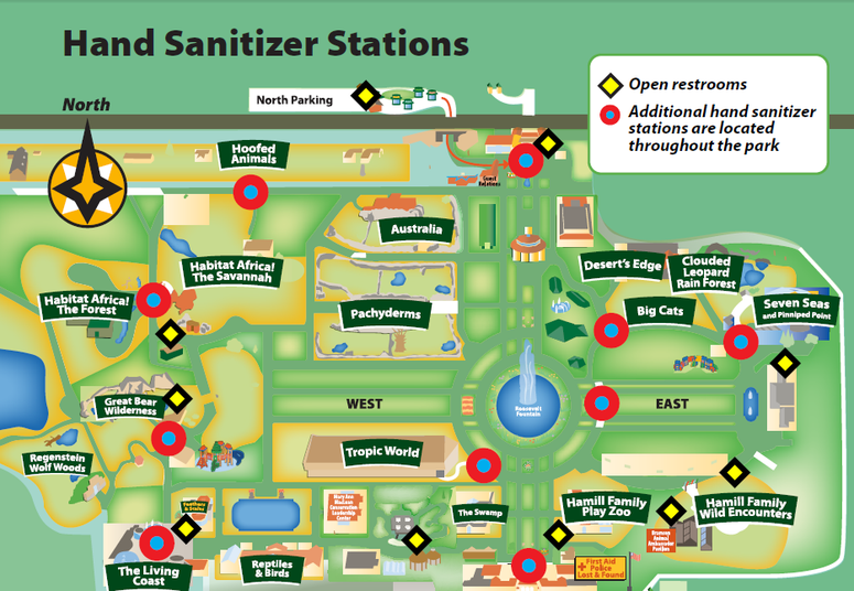 Brookfield Zoo Hand Sanitizing Stations