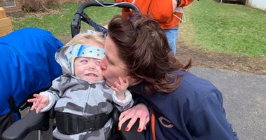Jennifer Daly and her son, Jonathan