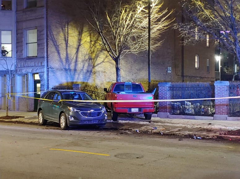A DUI driver crashed into a parked SUV and then into a fence Jan. 27, 2020 on the Near West Side.