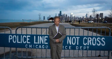 Mayor Lightfoot says hat's off to Danny Martinez, the artist who first came up with the first of the memes, showing a glowering Mayor Lightfoot  superimposed in front of a police barrier blocking access to the lakefront