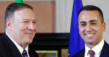 .S. Secretary of State, Mike Pompeo and Italian Foreign Minister Luigi Di Maio