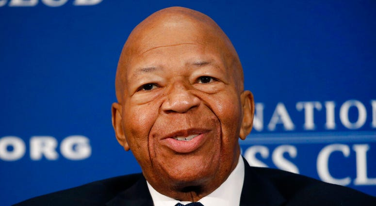In this Aug. 7, 2019, file photo, Rep. Elijah Cummings, D-Md., speaks during a luncheon at the National Press Club in Washington.