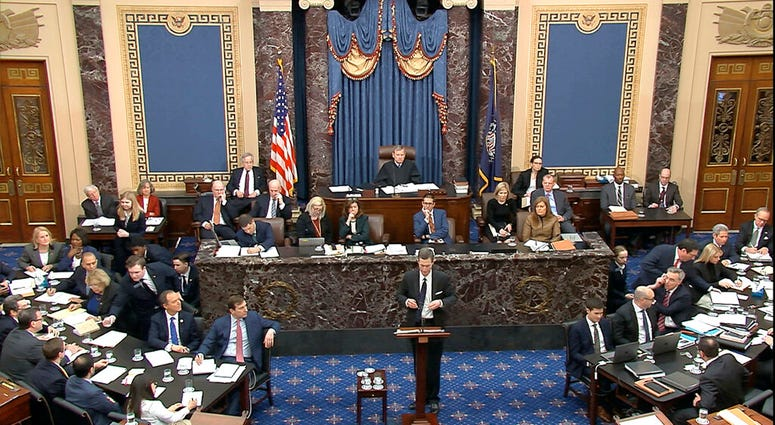 Senate Impeachment Hearing, Trump