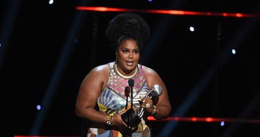 Lizzo wins the award for entertainer of the year at the 51st NAACP Image Awards at the Pasadena Civic Auditorium on Saturday, Feb. 22, 2020, in Pasadena, Calif.