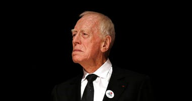 In this Friday, Oct. 16, 2015 file photo, actor Max Von Sydow attends the Lumiere Award ceremony of the 7th Lumiere Festival in Lyon, central France.