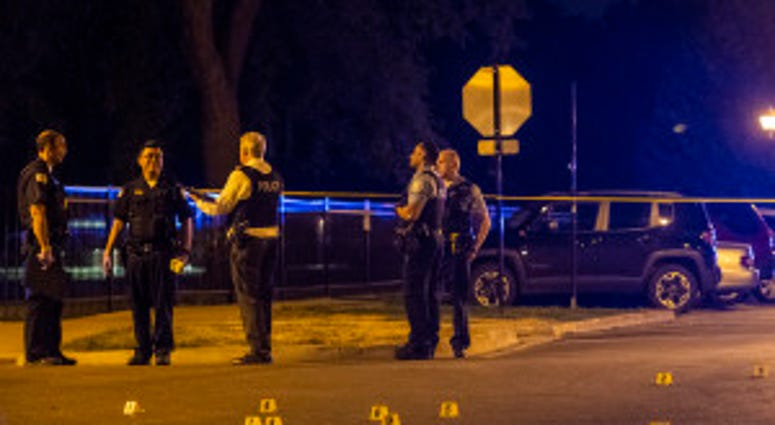 Police investigate a person shot Thursday night in the 5000 block of North Albany.