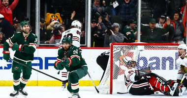 Wild Blackhawks OT