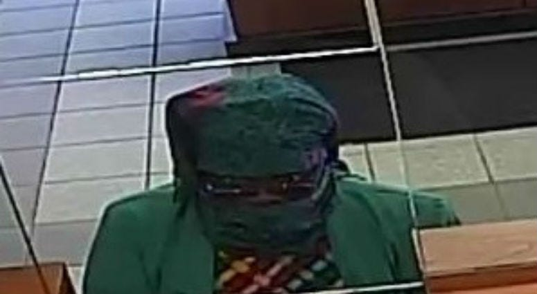 Surveillance image of the suspect in a bank robbery Aug. 15, 2019, at the Byline Bank at 8400 Skokie Blvd. in Skokie.