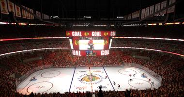 New United Center Scoreboard