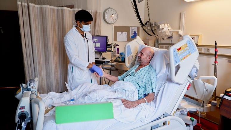 Brian Kuhns and Dr. Bharat post-transplant