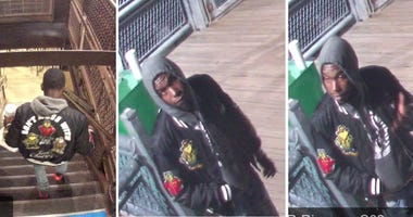 Chicago police are asking for help identifying a man believed to be responsible for a strong armed robbery Sunday near the Quincy Brown Line station on the Near West Side.