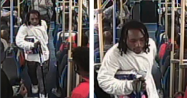 Surveillance images of a man suspected of attacking an 18-year-old with a cane on a CTA bus in the 2600 block of West 71st Street, Oct. 2, 2019.