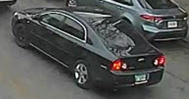 Police are looking for a black Chevrolet Malibu involved in a hit-and-run Dec. 28, 2019.