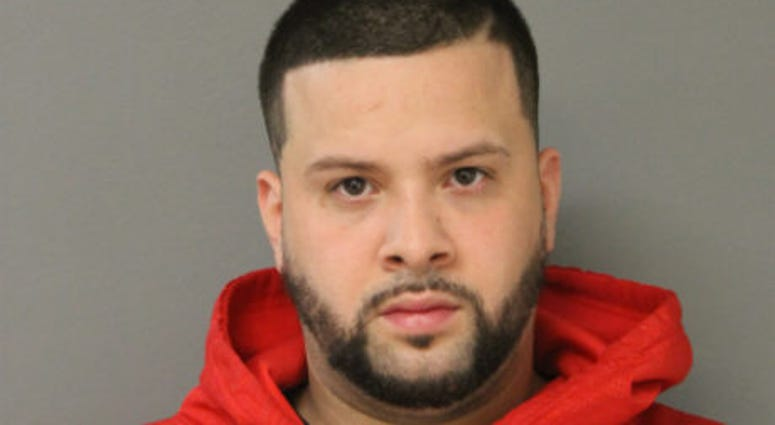 Claudio Torres, 30, is charged with reckless discharge of a firearm, unlawful use of a weapon by a felon, possession of a controlled substance, possession of cannabis and possession of LSD, all felonies, according to a statement from Chicago police.