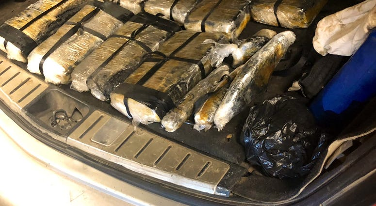 A man is facing a felony drug charge after police found more than 10 kg of cocaine hidden in a vehicle during a traffic stop Tuesday in Gresham on the South Side.
