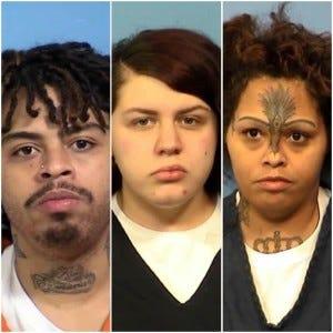Defendants (left to right) Ernest Collins, Cassandra Green and Candice Jones