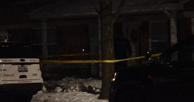 The entrance of a home is taped off as police investigate a stabbing Jan. 19. 2020 in West Town.