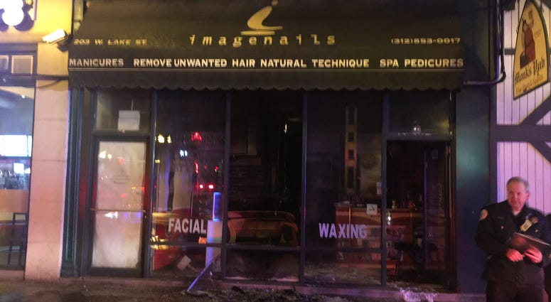 "Officials investigate a fire of ""suspicious origin"" at Image Nails, Facial and Wax Shop."