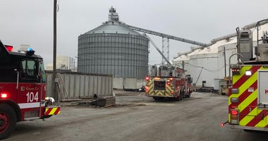 Firefighters responded to a silo fire at 11700 S. Torrence Ave. on March 31, 2020.