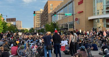 Thousands marched through Lakeview and Uptown last night in peaceful protests over the of George Floyd.