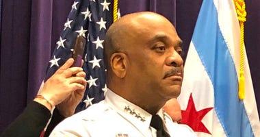 Chicago Police Supt. Eddie Johnson, Mayor Rahm Emanuel