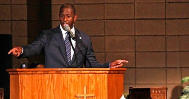 Mayor Andrew Gillum addresses supporters and urges that they keep politically engaged as the Broward County of Supervisor of Elections Office have five days to recount cast votes over an entire month leading up to Tuesday's midterm election.