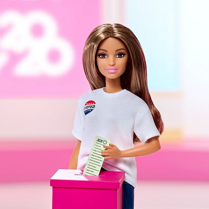 Voter Barbie doll as part of the Campaign Team set
