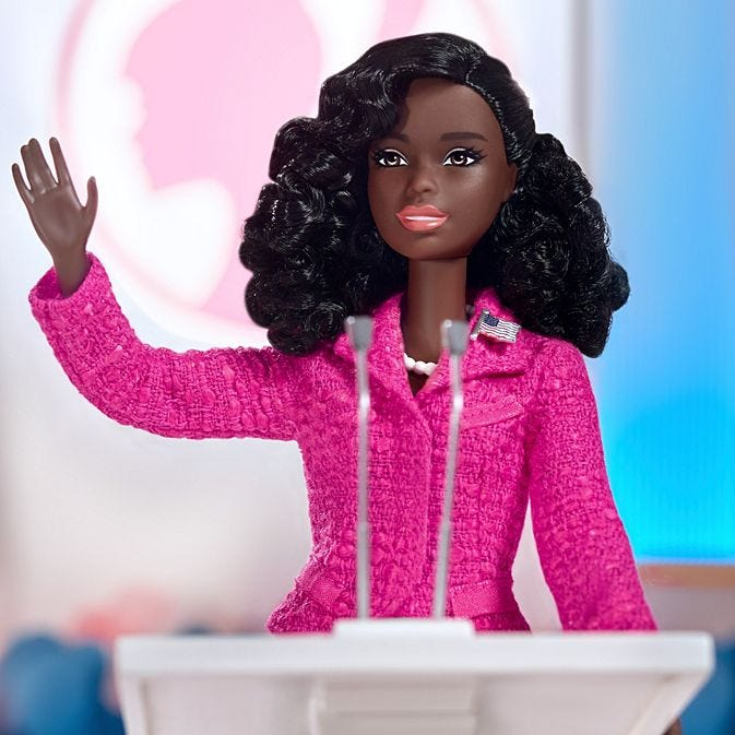 Candidate Barbie doll as part of the Campaign Team set