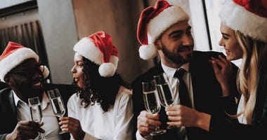 Holiday cocktails and wine