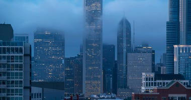 Foggy Chicago Skyline