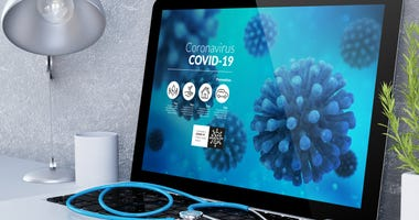 Coronavirus Laptop
