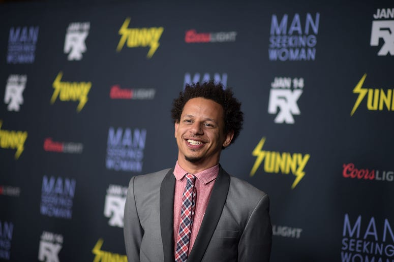 """Actor Eric Andre attends the premiere of FXX's """"Man Seeking Woman"""" at the DGA Theater on January 13, 2015 in Los Angeles, California."""