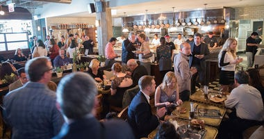 A general view of atmosphere at the 2015 James Beard Foundation Awards Welcome Reception Hosted At Soho House Chicago In Partnership With Choose Chicago, The Illinois Restaurant Association And CS Magazine at Soho House Chicago on May 3, 2015 in Chicago,