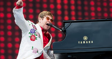 Elton John performs live at Twickenham Stoop on June 3, 2017 in London, England.