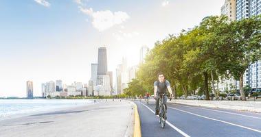 Chicago bike trail