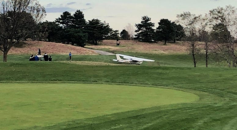 A small plane made an emergency landing at The Glen Club golf course on Sunday, Nov. 3, 2019.