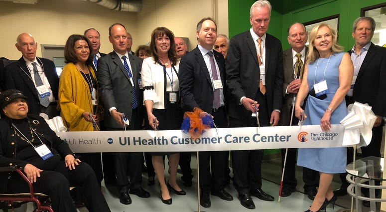 The Chicago Lighthouse, an organization that serves the visually impaired and disabled, held a ribbon-cutting ceremony Wednesday for the renovation and expansion of its state-of-the-art, fully accessible UI Health Customer Care Center.
