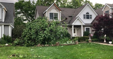 A tornado touched down Monday in Dyer, near the Illinois-Indiana border, the National Weather Service confirms.