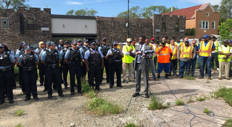 City workers fanned out Friday morning in the Roseland neighborhood for a day of cleaning up empty lots and offering services to residents.  It's the sixth Operation Clean Up of the summer.