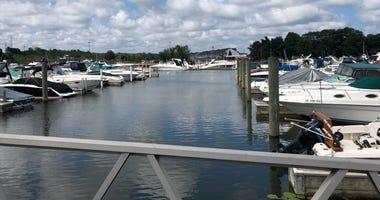 Portage Lakefront and Riverwalk beach area