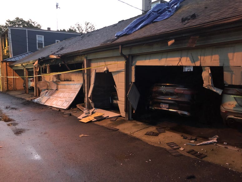 Five dumpsters and a garage were set on fire Tuesday in Lincoln Park on the North Side.
