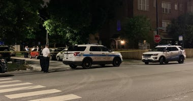 Chicago police investigate the scene where an off-duty officer and a woman were found unresponsive in the 3900 block of West Ainslie, Tuesday, June 9, 2020.