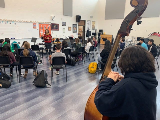 Elizabeth Bennett, Director of Orchestras at Buffalo Grove High School
