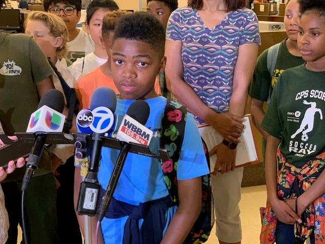 Mason O'Shields, 6th grader, Ray Elementary