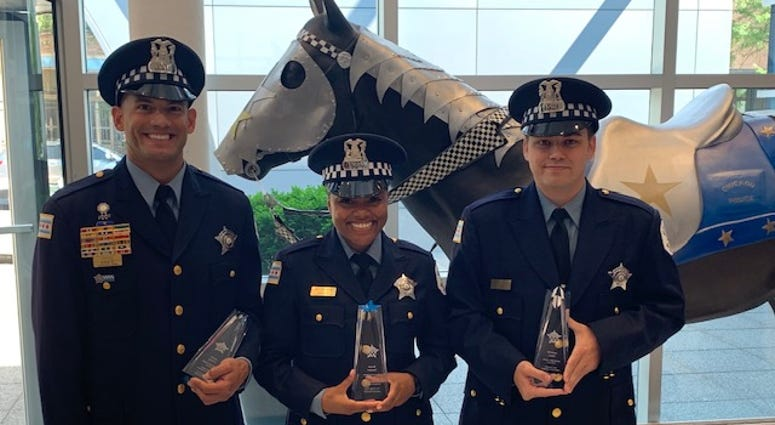 Three Chicago Police Officers are being honored for saving the life of an 8-year-old boy.