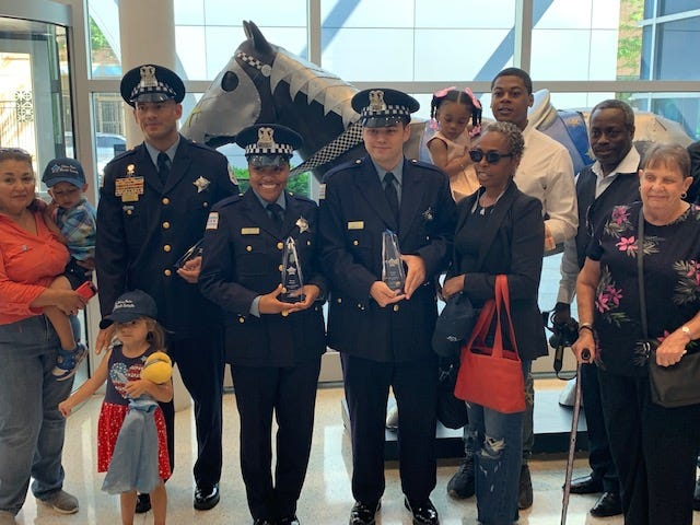 Three Chicago Police Officers are being honored for saving the life of an 8 year old boy.