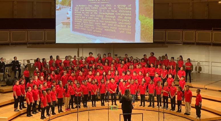 Thousands of young singers celebrated Black History Month on Monday at the Chicago Symphony Center.